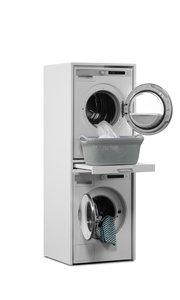 Washtower Tumble Dryer On Washing Machine Cupboard