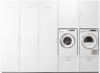 Cabinet wall 2.3 | Practical cupboard for washing machine and dryer