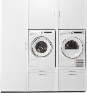 Cabinet wall 2.1 | Practical cupboard for washing machine and dryer