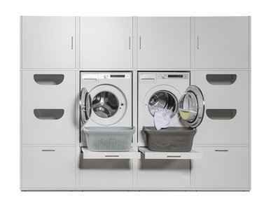 Cabinet wall 2.2 Elite | Practical cupboard for washing machine and dryer